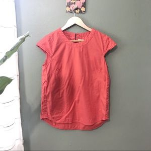 J. Crew Coral Short Sleeve Blouse Size Small